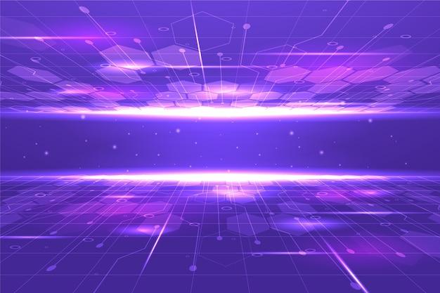 Tecnologia gradiente e sfondo futuristico