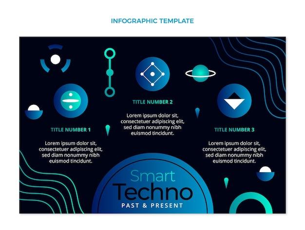 그라데이션 기술 infographic 템플릿