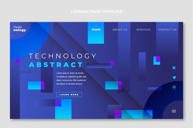 Gradient technology landing page