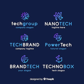 Gradient technology logo collection