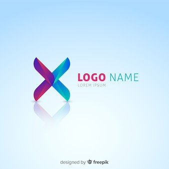 Gradient technology logo template for companies