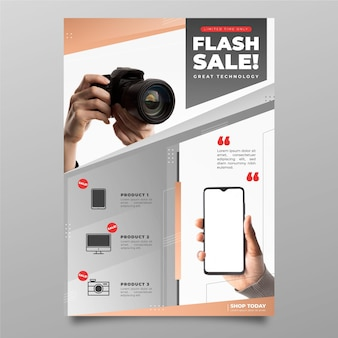 Gradient technology product catalog with photo