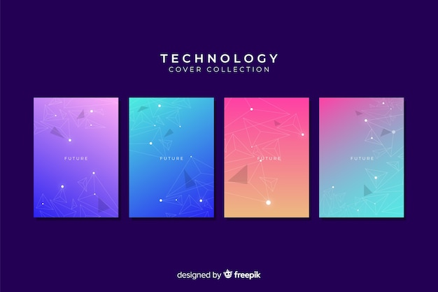 Gradient technology style cover collection