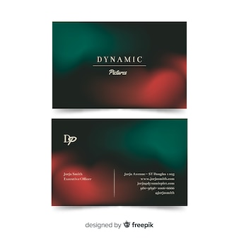 Gradient template business card