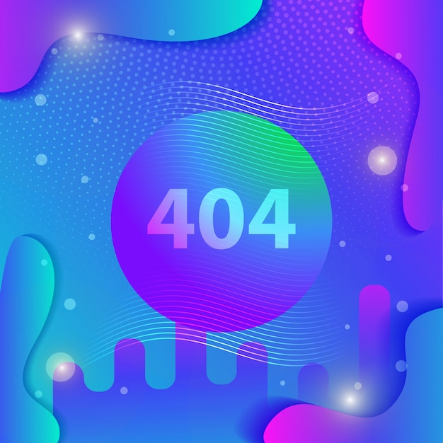 Gradient template fluid with modern background style