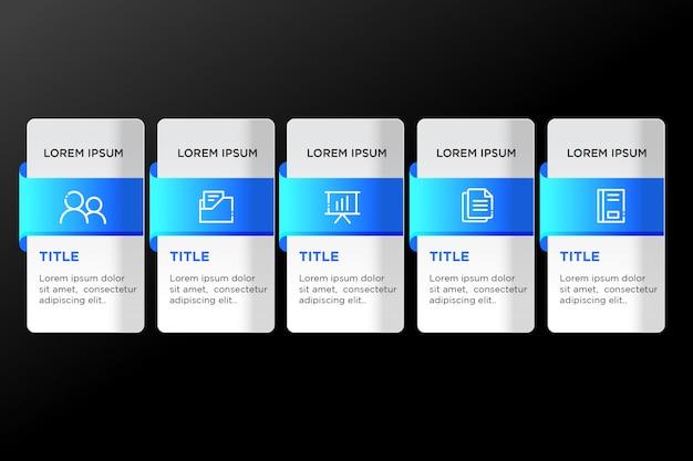 Gradient template infographic design