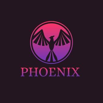 Шаблон градиента логотип феникс