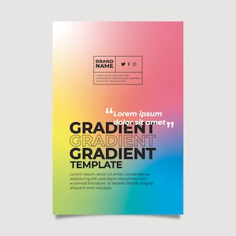 Gradient template for poster