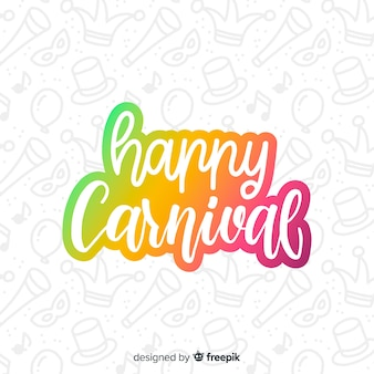 Gradient text carnival background