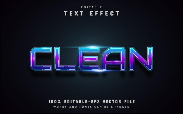 Gradient text effect with dashed lines