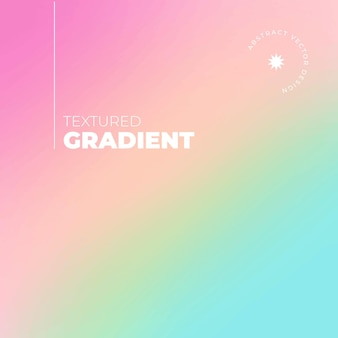Gradient texture background in rainbow colors with typographic details