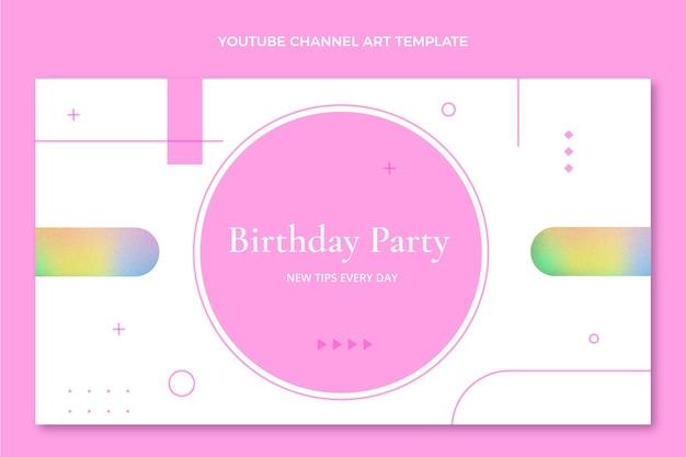 그라데이션 텍스처 생일 유튜브 채널