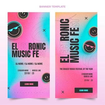 Gradient texture music festival banners