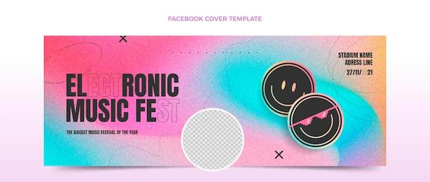 Copertina facebook del festival musicale a trama sfumata
