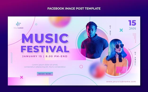 Gradient texture music festival facebook post