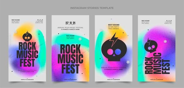 Festival di musica a trama sfumata ig stories