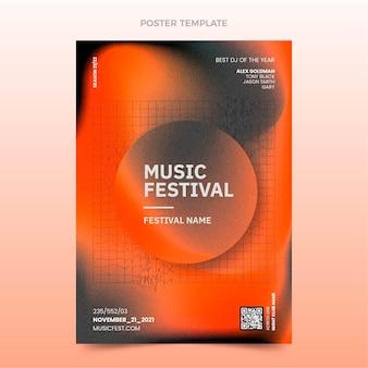 Афиша музыкального фестиваля градиентной текстуры