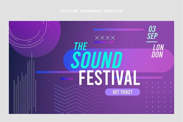 Музыкальный фестиваль градиентной текстуры на youtube
