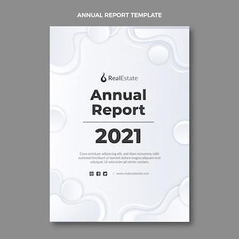 그라데이션 텍스처 부동산 연례 보고서