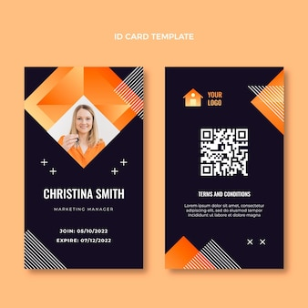 Gradient texture real estate id card