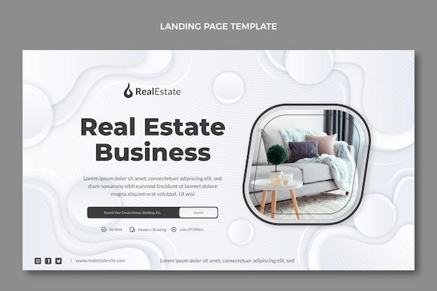 Gradient texture real estate landing page
