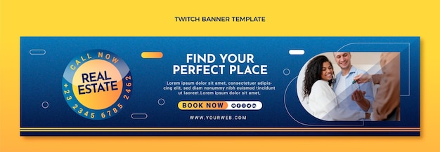 Gradient texture real estate twitch banner