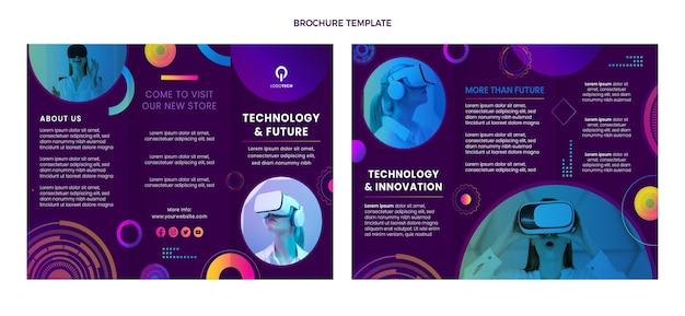 Шаблон брошюры технологии градиентной текстуры