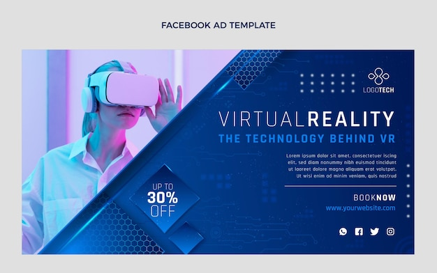 Gradient texture technology facebook ad
