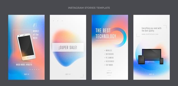 Технология градиентных текстур ig stories