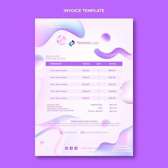 Gradient texture technology invoice