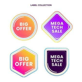 Gradient texture technology labels