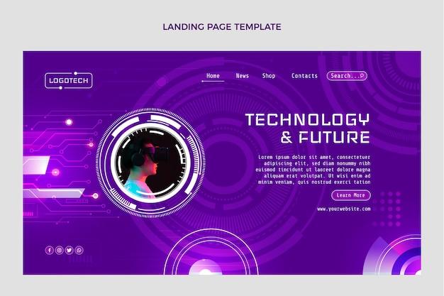 Целевая страница с технологией градиентной текстуры
