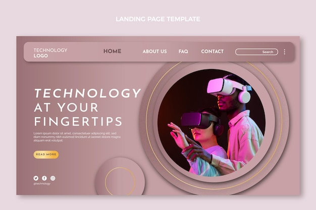 Gradient texture technology landing page