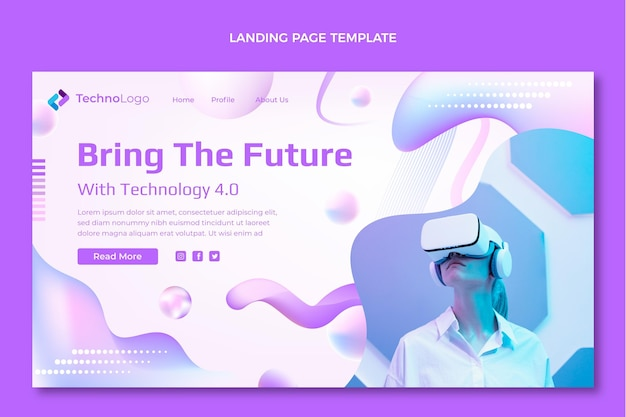 グラデーションテクスチャテクノロジーのランディングページ