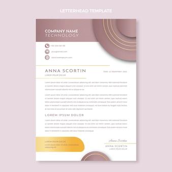 Gradient texture technology letterhead