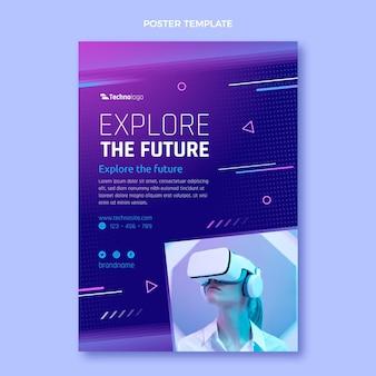Poster di tecnologia a trama sfumata