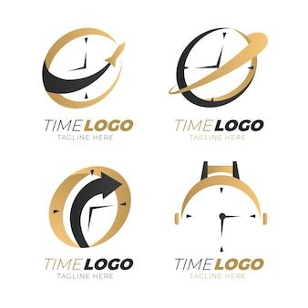 Коллекция логотипов градиентного времени