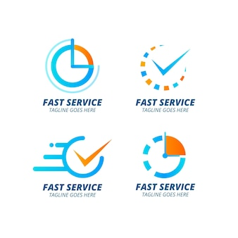 Коллекция шаблонов логотипа градиентного времени