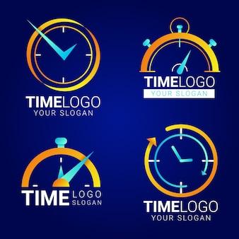 Gradient time logos pack