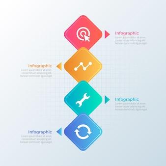 그라데이션 타임 라인 infographic 템플릿