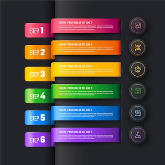 Gradient timeline infographic template Free Vector