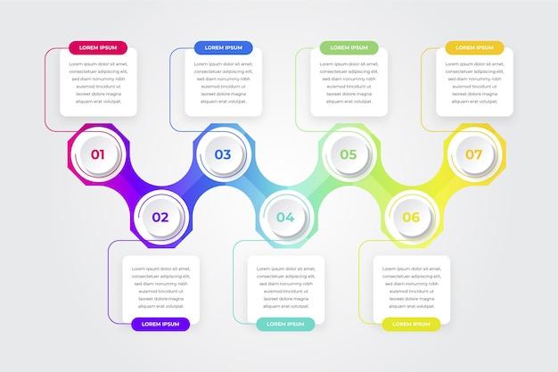 Градиентная временная шкала инфографики