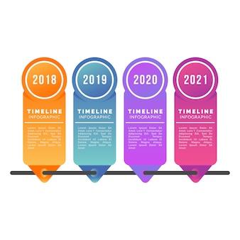 Градиент временной шкалы профессиональной инфографики