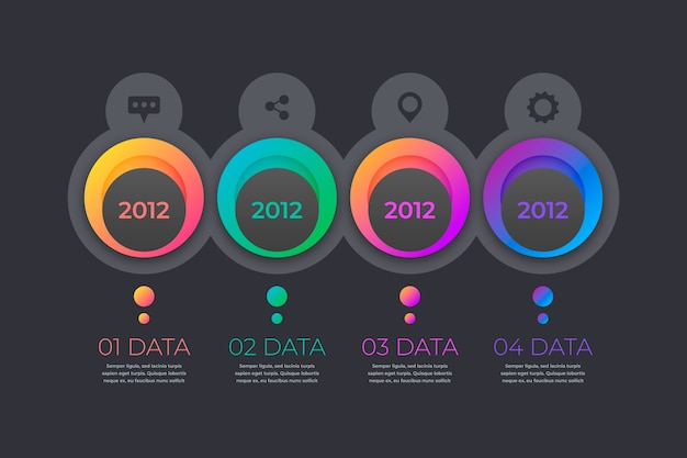 Gradient timeline professional infographic