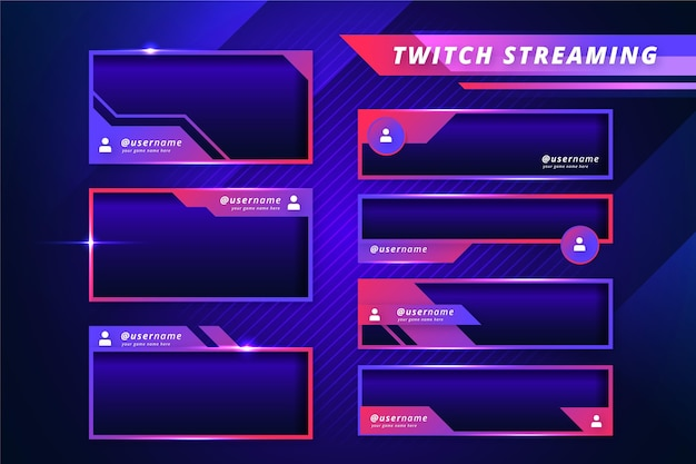 Gradient tones twitch stream panels