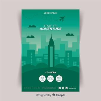 Gradient travel flyer template