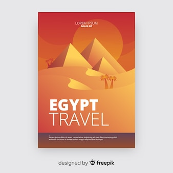 Gradient travel flyer template
