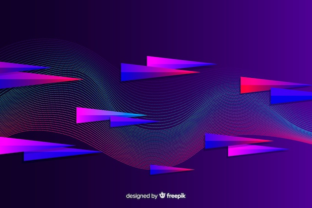Gradient triangles abstract sport background