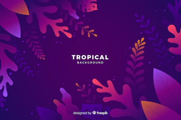 Gradient tropical background