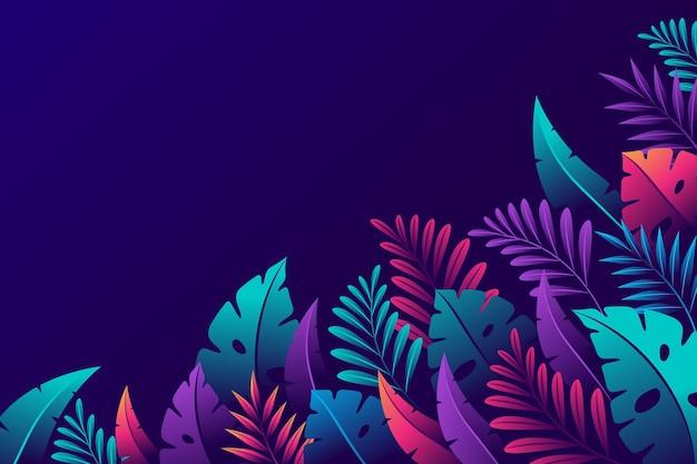 Sfondo sfumato di foglie tropicali